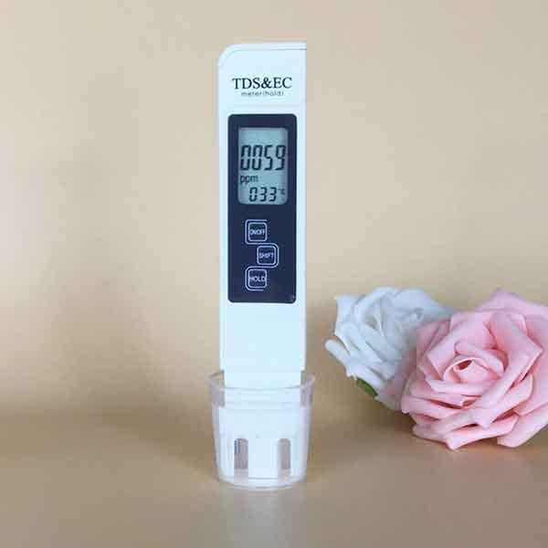Medidor digital de prueba de dureza del agua para casa y piscina