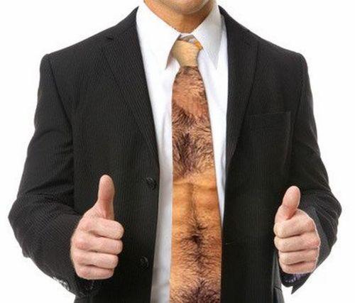 La corbata del auténtico machote