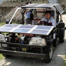 Estudiante chino construye el primer coche eléctrico-solar
